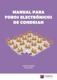 MANUAL PARA FOROS ELECTRÓNICOS DE CONDESAN