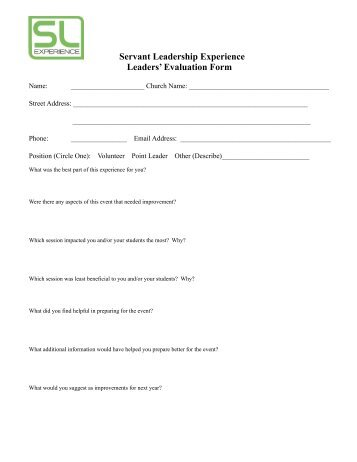 Work Experience Evaluation Form V  Abbynet
