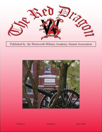 Red Dragon Vol 1 Issue 1 - Wentworth Military Academy & College