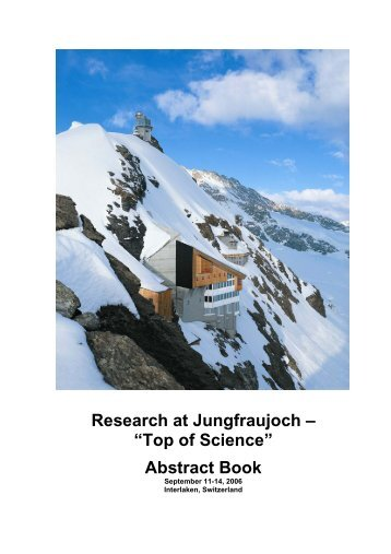 Abstract Book - International Foundation High Altitude Research ...