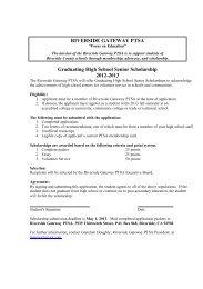 2012-2013 Graduating High School Senior Scholarship