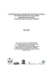 Joint Submission to the Special Commission of Inquiry into ... - NCOSS
