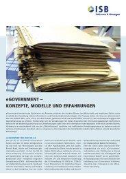 eGovernmenT – KonzePTe, modelle und erfAhrunGen - ISB AG