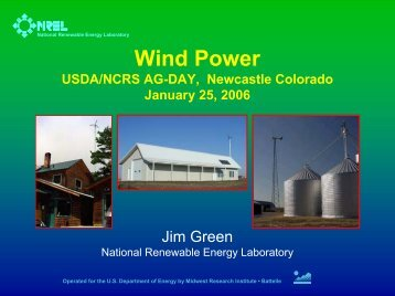 Wind Power: USDA Ag-Day - Wind Powering America