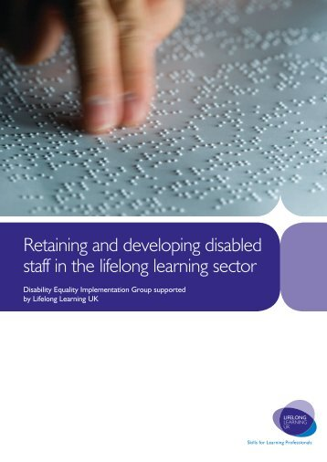 Retaining and developing disabled staff in the lifelong learning sector