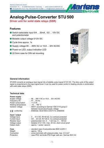 STU500-00- Prospekt - Martens Elektronik GmbH