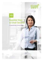 10 Essential Steps to Email Security - Clearswift