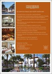 All Inclusive Informationen - Steigenberger Hotels and Resorts