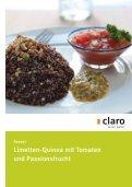 Neue Rezepte mit Quinoa hier zum Download - Claro Laden ... - Seite 5