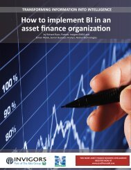 How to Implement BI in an Asset Finance ... - The Alta Group
