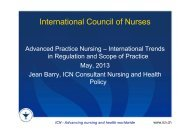 ICN - Advancing nursing and health worldwide - Swiss ANP