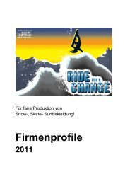 Firmenprofile 2011 - Clean Clothes