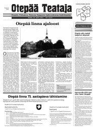 Otepää linna ajaloost - Otepää vald