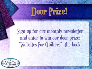 New Online Marketing Techniques for Quilting-related Websites