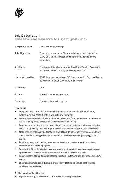 entry level research assistant resume