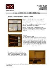 X-Wall 9-screen Video Wall - 9X Media