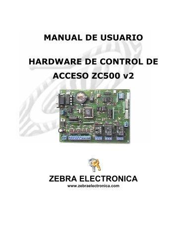 MANUAL CONTROLADOR ZC500_v2.pdf - Zebra Electronica