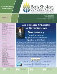 Gil Tamary Speaking at Beth Sholom November 3