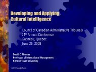 1.B Developing and Applying Cultural Intelligence - Ccat-ctac.org