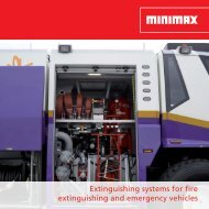 Extinguishing systems for fire extinguishing and emergency vehicles