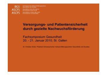 Fachsymposium Gesundheit 21.1.2010 PDF | 358 KBytes - BGS