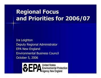 Presentation - Environmental Business Council of New England, Inc.