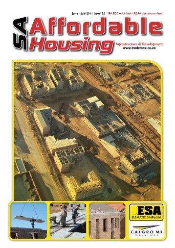 June - July 2011 Issue: 20 SA R30 each incl. / R360 per annum incl.