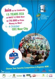 15 YEARS ECA CICC Nasr City - Egyptian Chefs Association