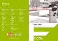 elektromechanische Schranke - FAAC GmbH