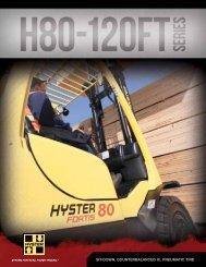 Brochures / Technical Guide - Hyster Company