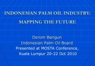 indonesian palm oil industry: mapping the future - MOSTA