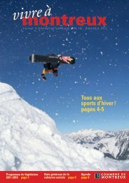 Tous aux sports d'hiver ! pages 4-5 - Commune de Montreux