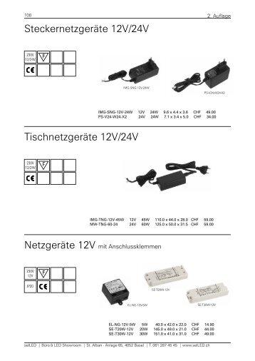 Steckernetzgeräte 12V/24V Tischnetzgeräte 12V/24V - selLED