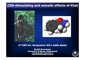 CNS-stimulating and somatic effects of Khat ... - brenneisen-unibe