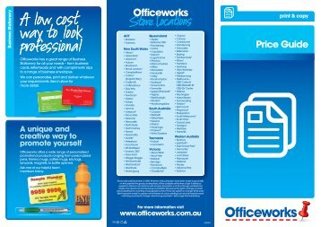 PRICE GUIDE v3.indd - Officeworks