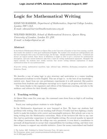 information about mathematics essay Ib mathematics extended essay titles your extended essay will be marked out of 36 24 marks are for general essay style and content 12 marks are specific to the subject in which you are doing your essay.