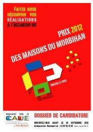 Prix 2012 - dossier de candidature - Fondation du Patrimoine