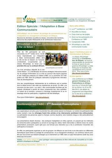 Edition Spéciale : l'Adaptation à Base Communautaire ... - Africa Adapt