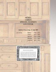 MÖBEL UHREN SPIEGEL, RAHMEN LEUCHTER - Galerie Fischer ...