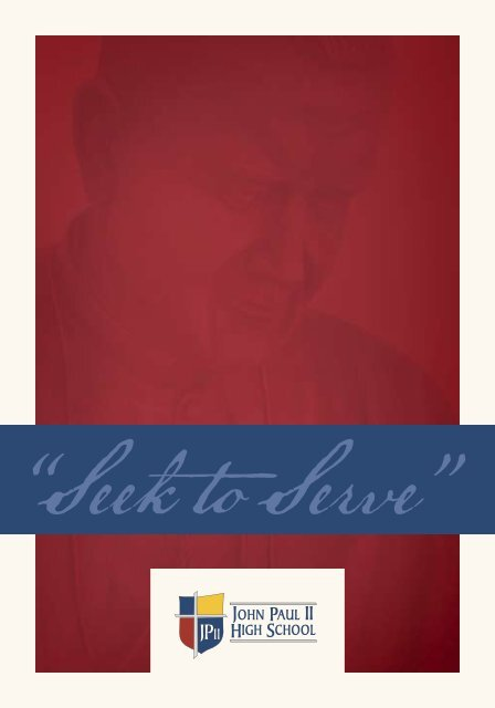 JPIIHS View Book/Brochure - John Paul II HS