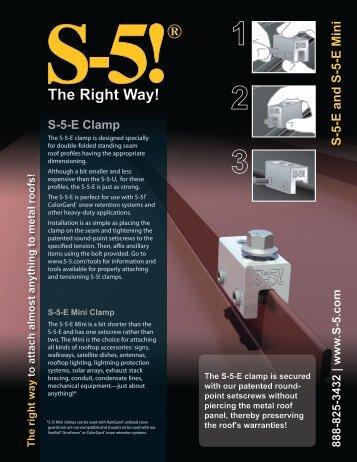 S-5-E Clamp - Sun Bright Solar