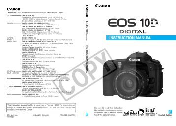 canon eos 10d operators manual cleaning digital cameras rh yumpu com eos 1d manual eos 80d manual