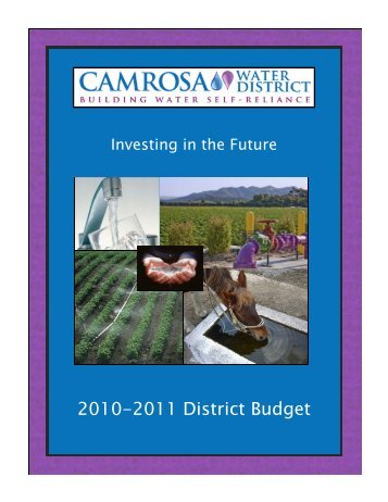 FY 2010-11 Budget - Camrosa Water District