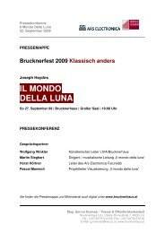 IL MONDO DELLA LUNA - Brucknerhaus