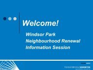 Windsor Park Design Process