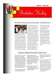 Buletin Kolej Bulan Jan-Mac 2012 - Jabatan Pelajaran Negeri Kedah