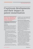 Courtroom developments and their impact on patent monetisation - Page 2