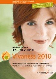 Nürnberg, Germany Weltleitmesse für Naturkosmetik und ... - Vivaness