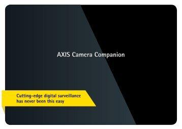 AXIS Camera Companion - Axis Communications