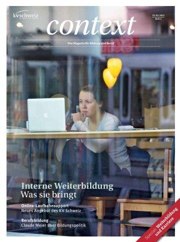Context Nr. 2 / Februar 2013 - Interne Weiterbildung ... - KV Schweiz